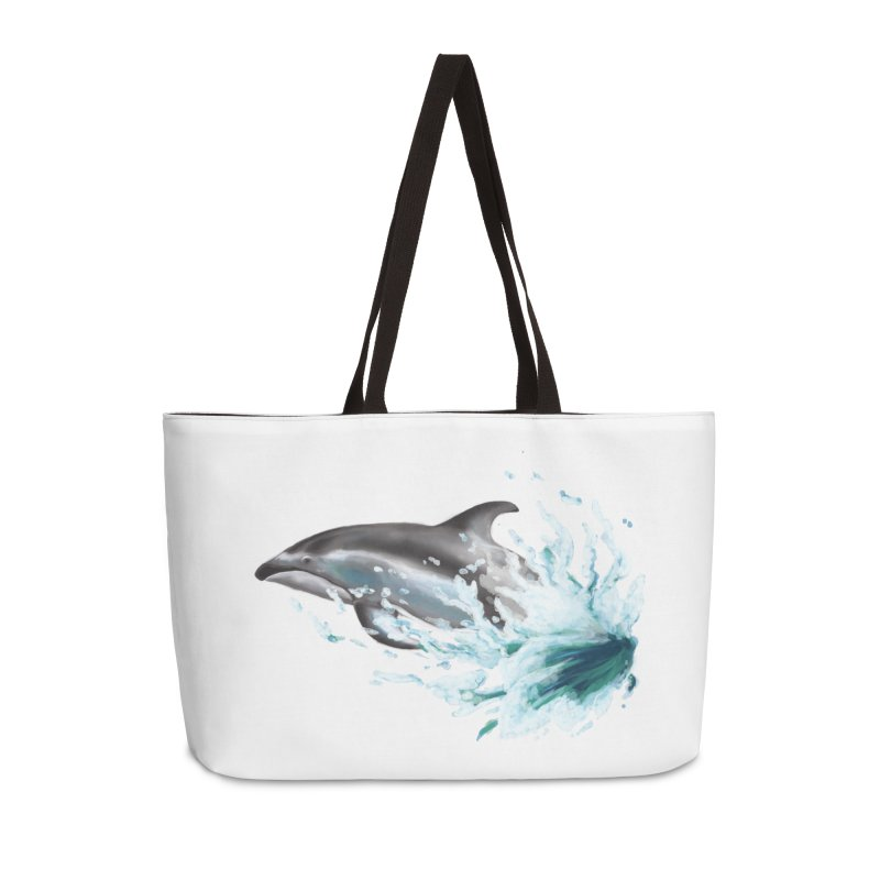 Pacific White-Sided Dolphin  Accessories Weekender Bag Bag by mirrortail's Shop