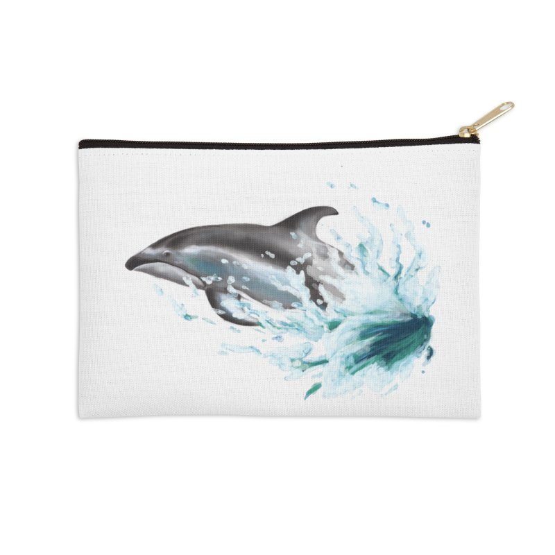 Pacific White-Sided Dolphin  Accessories Zip Pouch by mirrortail's Shop