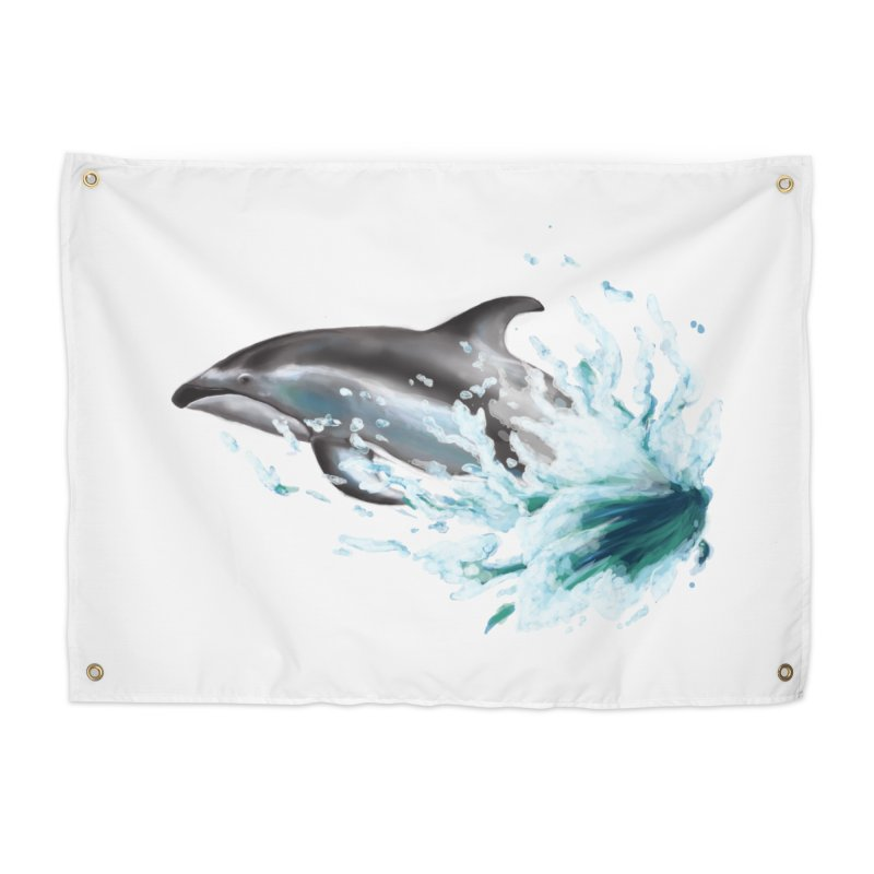 Pacific White-Sided Dolphin  Home Tapestry by mirrortail's Shop