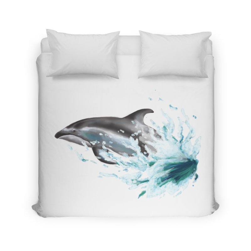 Pacific White-Sided Dolphin  Home Duvet by mirrortail's Shop