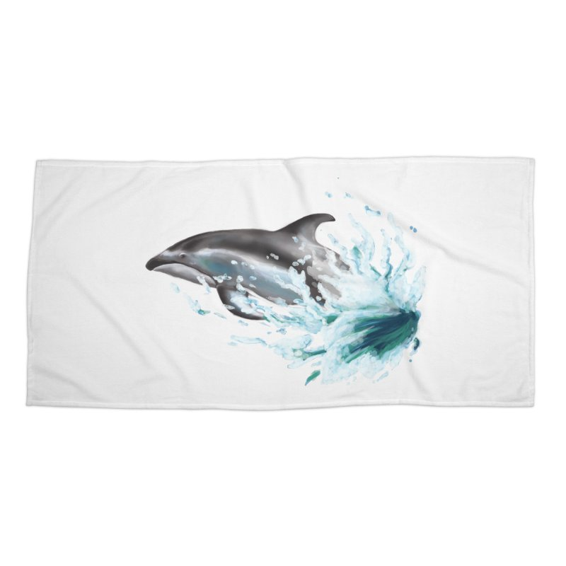 Pacific White-Sided Dolphin  Accessories Beach Towel by mirrortail's Shop