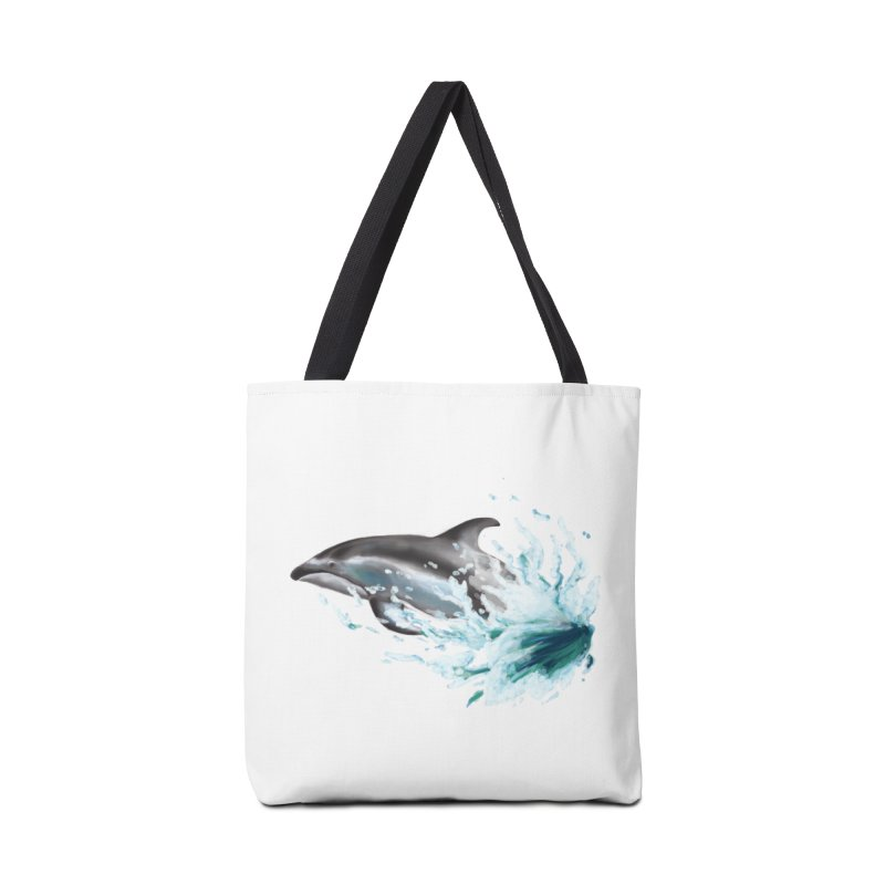 Pacific White-Sided Dolphin  Accessories Bag by mirrortail's Shop