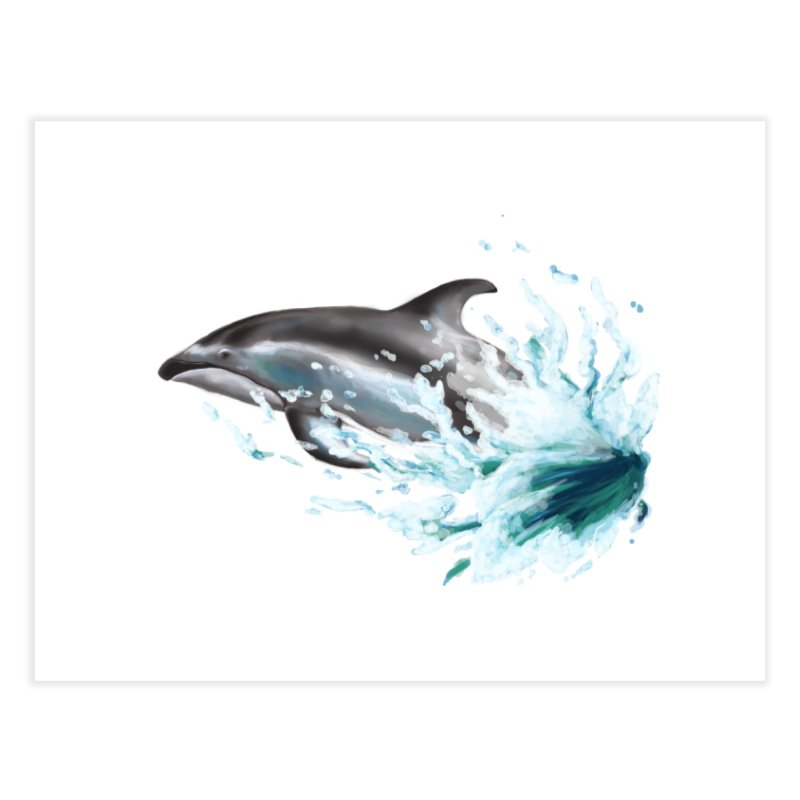 Pacific White-Sided Dolphin  Home Fine Art Print by mirrortail's Shop