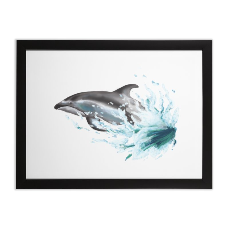 Pacific White-Sided Dolphin  Home Framed Fine Art Print by mirrortail's Shop