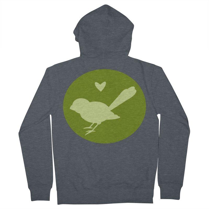 Birdy Green Women's Zip-Up Hoody by mirrortail's Shop