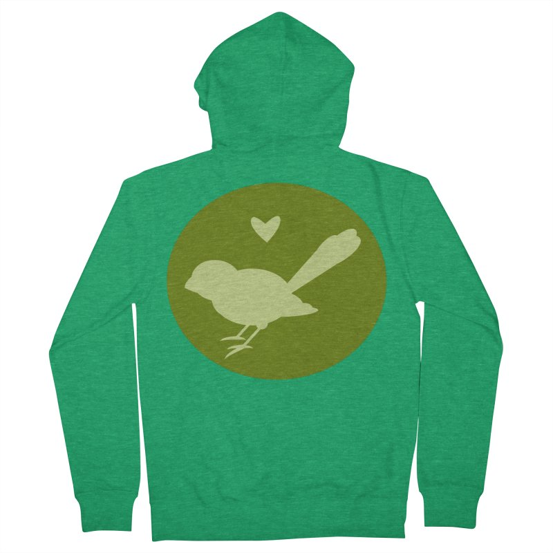 Birdy Green Men's Zip-Up Hoody by mirrortail's Shop