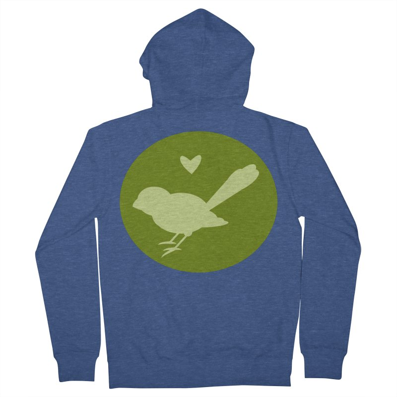 Birdy Green Men's Zip-Up Hoody by mirrortail's Shop