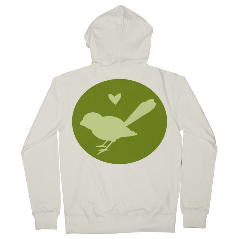 Birdy Green Men's French Terry Zip-Up Hoody by mirrortail's Shop