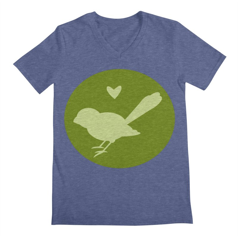 Birdy Green Men's V-Neck by mirrortail's Shop