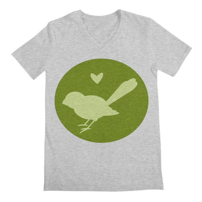 Birdy Green Men's Regular V-Neck by mirrortail's Shop