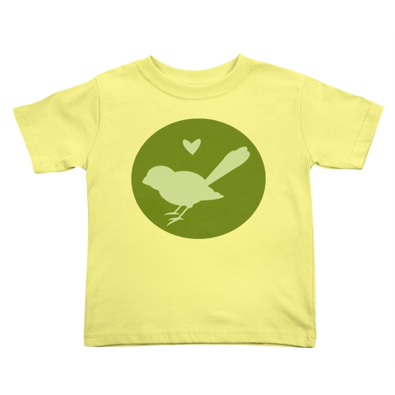 Birdy Green Kids Toddler T-Shirt by mirrortail's Shop