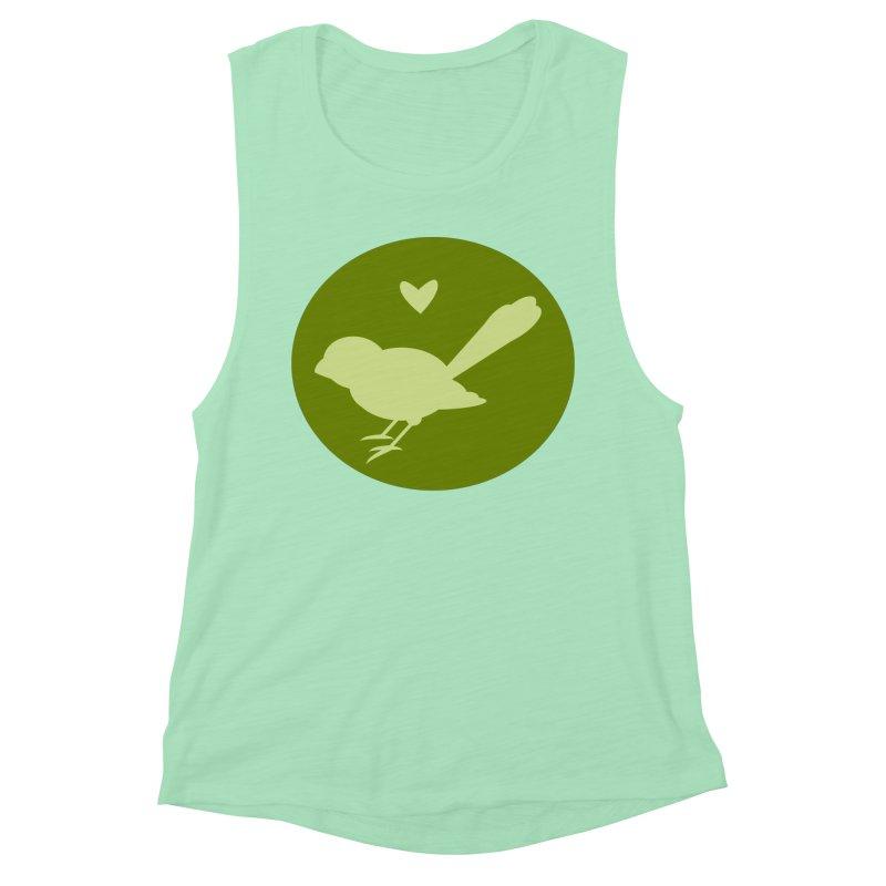 Birdy Green Women's Muscle Tank by mirrortail's Shop