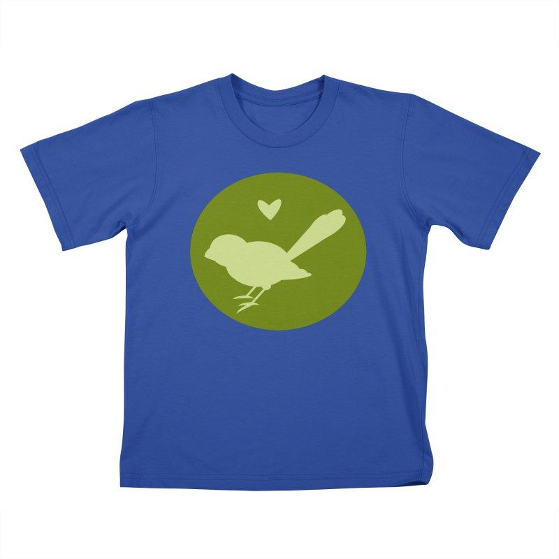 Birdy Green Kids T-Shirt by mirrortail's Shop
