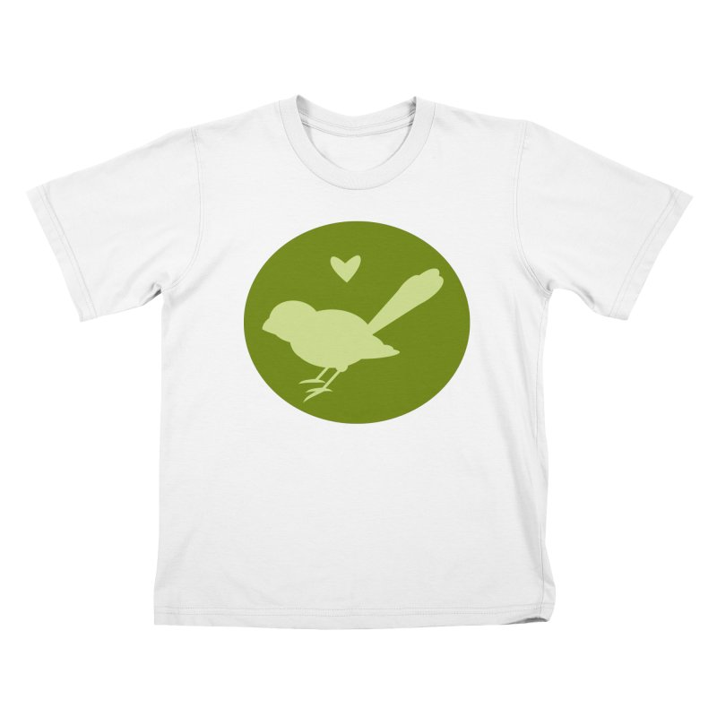 Birdy Green Kids T-Shirt by mirrortail's Shop