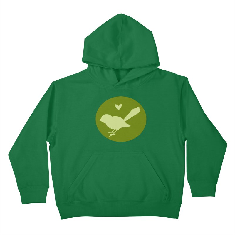 Birdy Green Kids Pullover Hoody by mirrortail's Shop