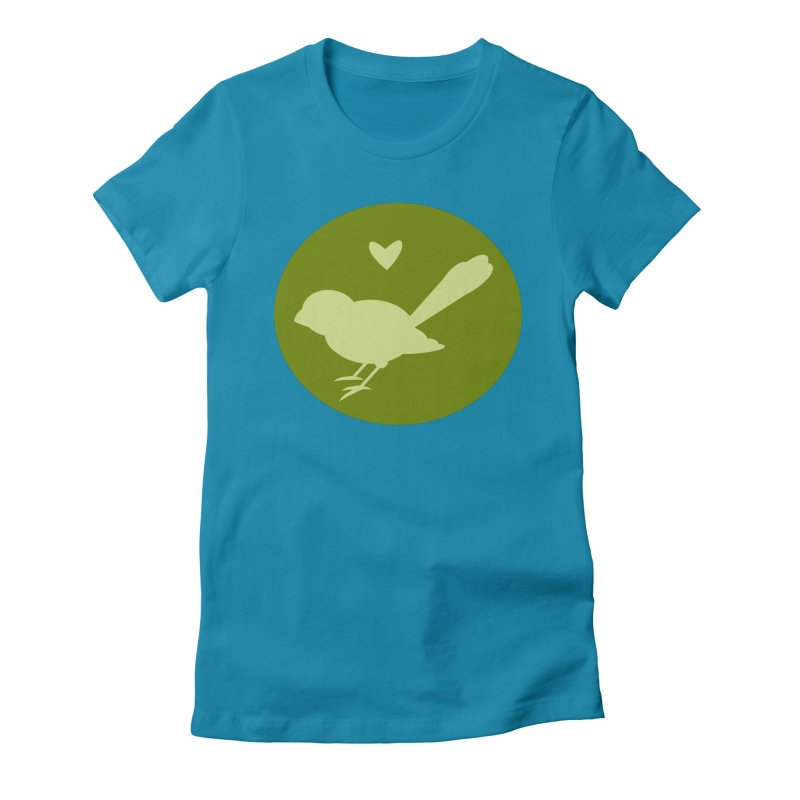 Birdy Green Women's Fitted T-Shirt by mirrortail's Shop