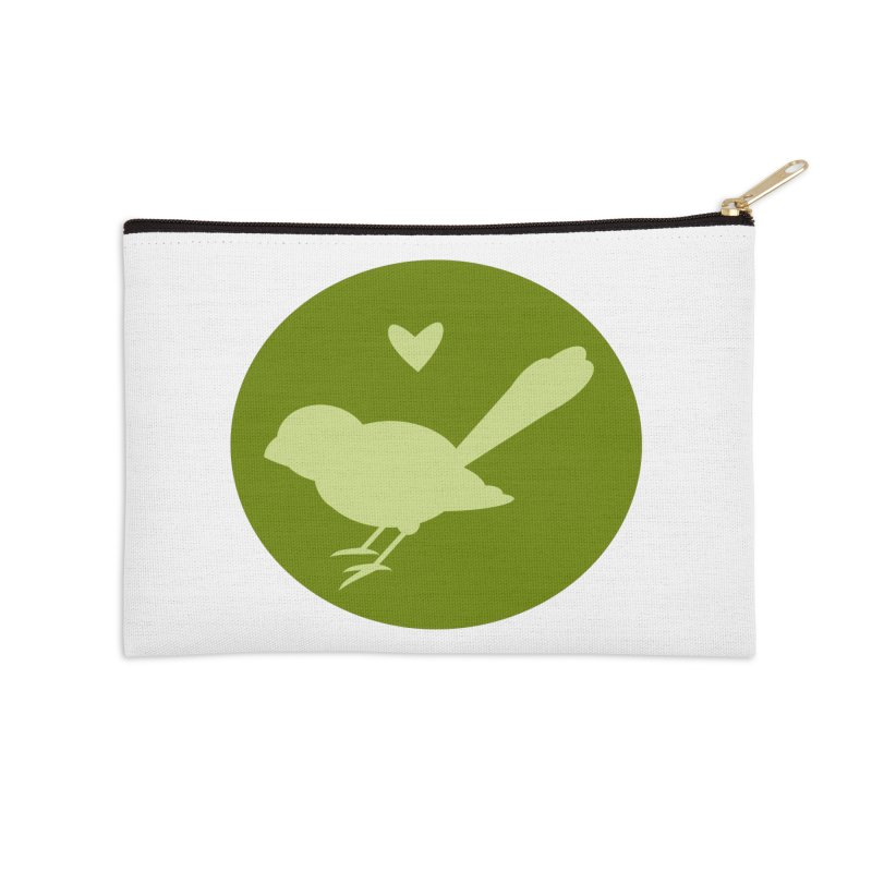 Birdy Green Accessories Zip Pouch by mirrortail's Shop