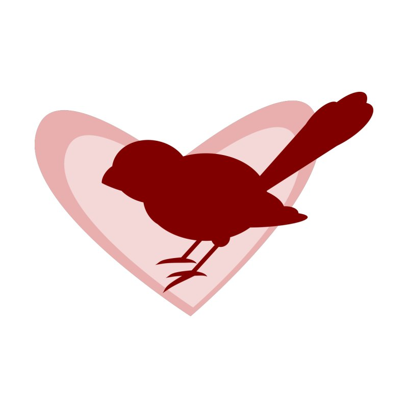 Valentine Bird None  by mirrortail's Shop