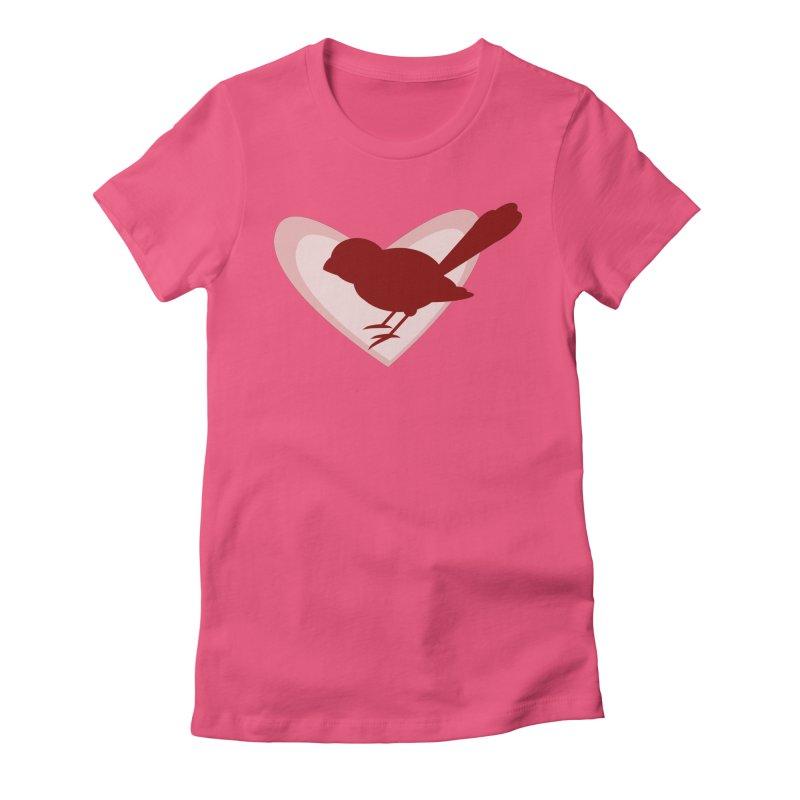 Valentine Bird Women's Fitted T-Shirt by mirrortail's Shop