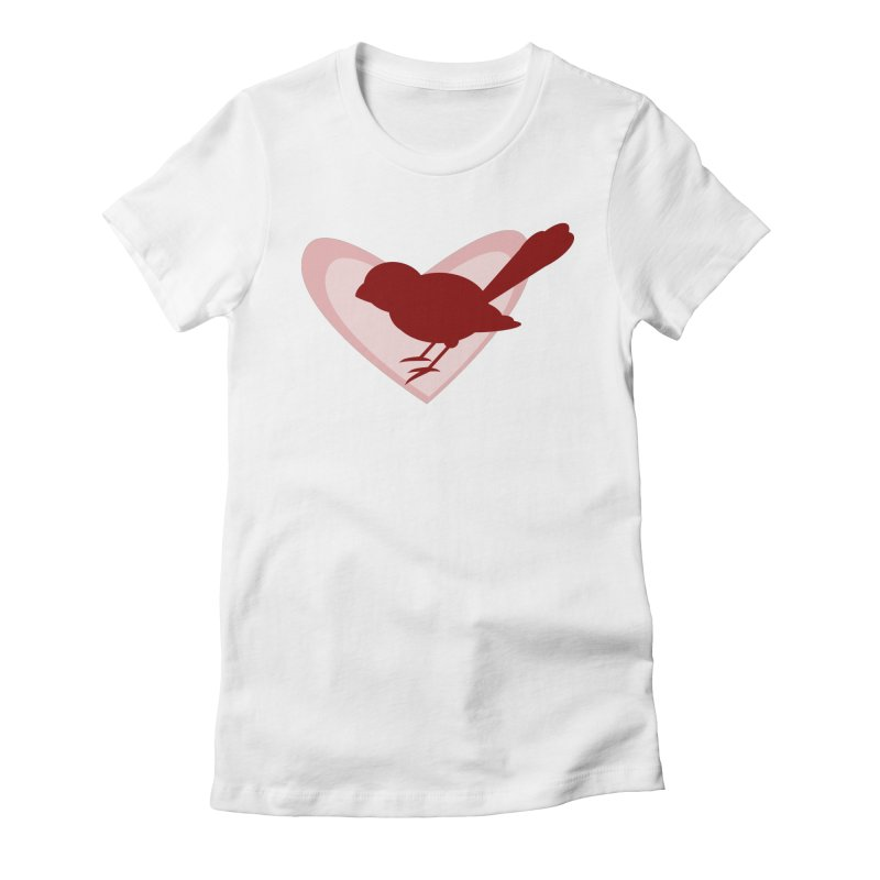 Valentine Bird Women's Fitted T-Shirt by mirrortail's Shop