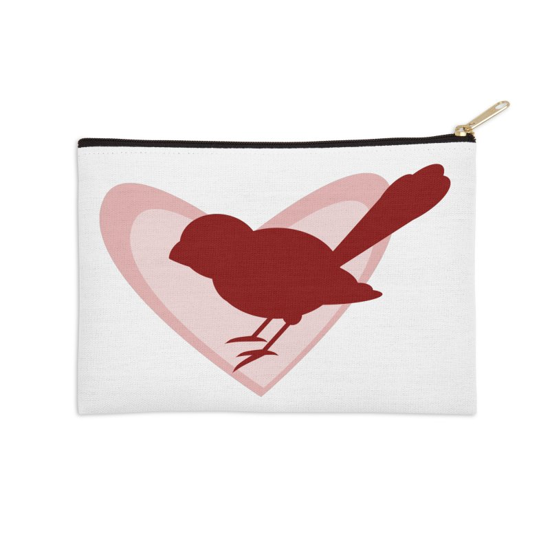 Valentine Bird Accessories Zip Pouch by mirrortail's Shop
