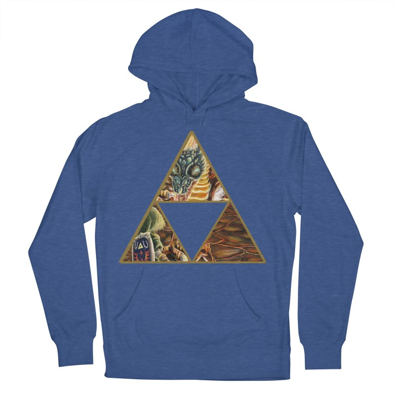 Volvagia vs Link Triforce Women's French Terry Pullover Hoody by mirrortail's Shop