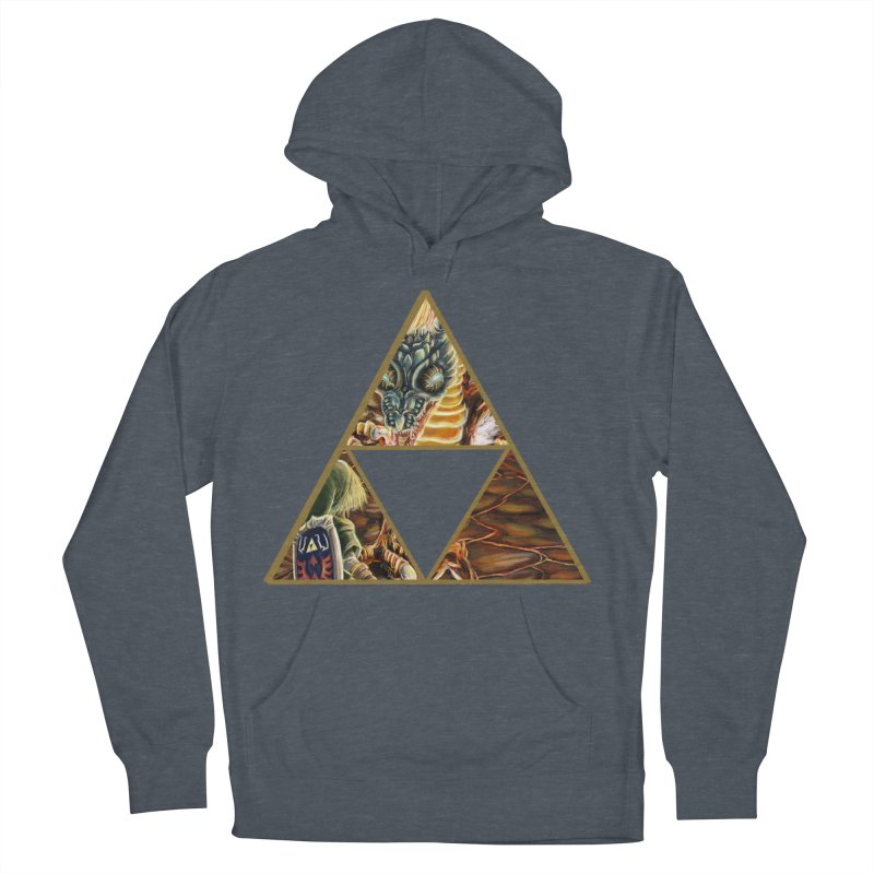 Volvagia vs Link Triforce Men's French Terry Pullover Hoody by mirrortail's Shop