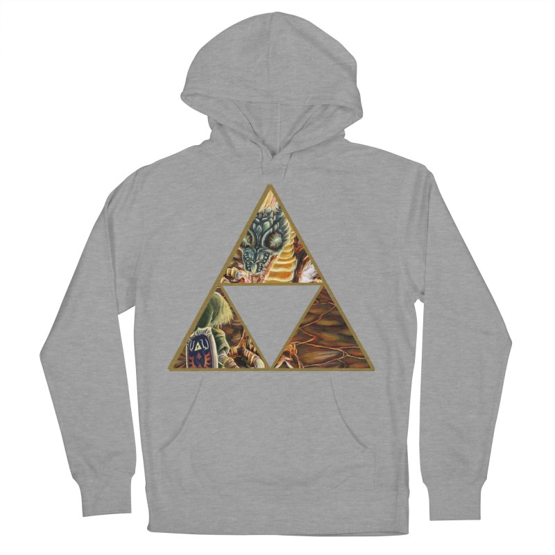 Volvagia vs Link Triforce Men's Pullover Hoody by mirrortail's Shop