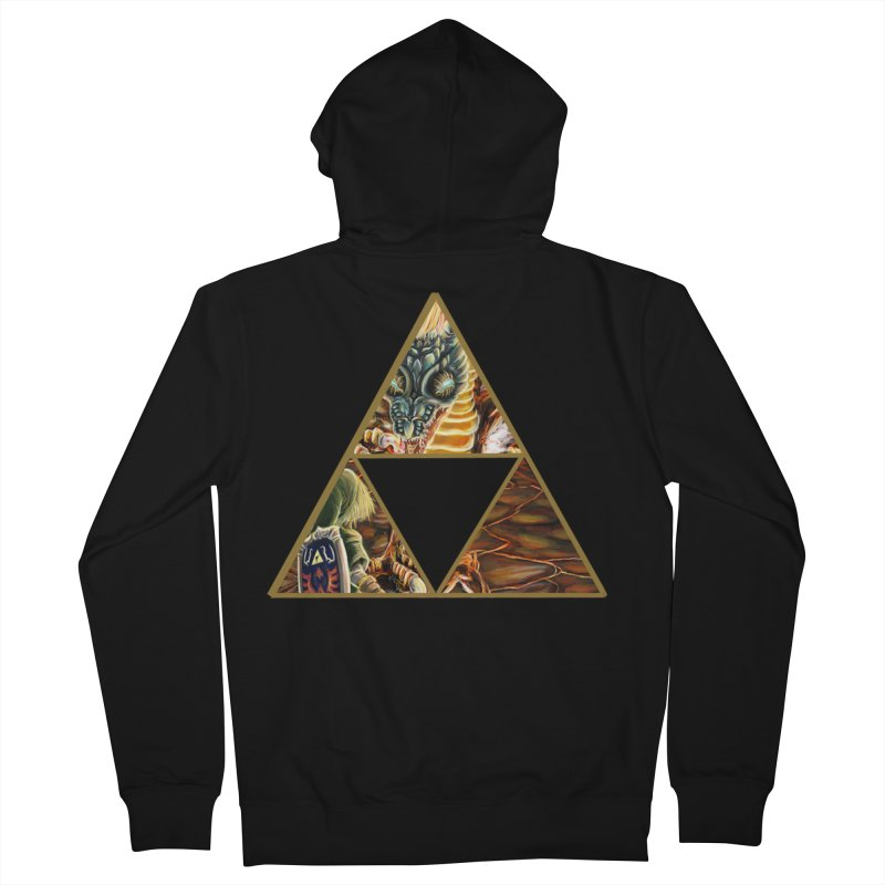 Volvagia vs Link Triforce Women's French Terry Zip-Up Hoody by mirrortail's Shop