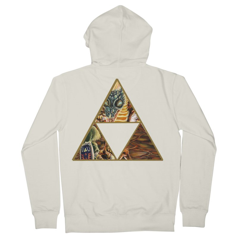 Volvagia vs Link Triforce Women's Zip-Up Hoody by mirrortail's Shop