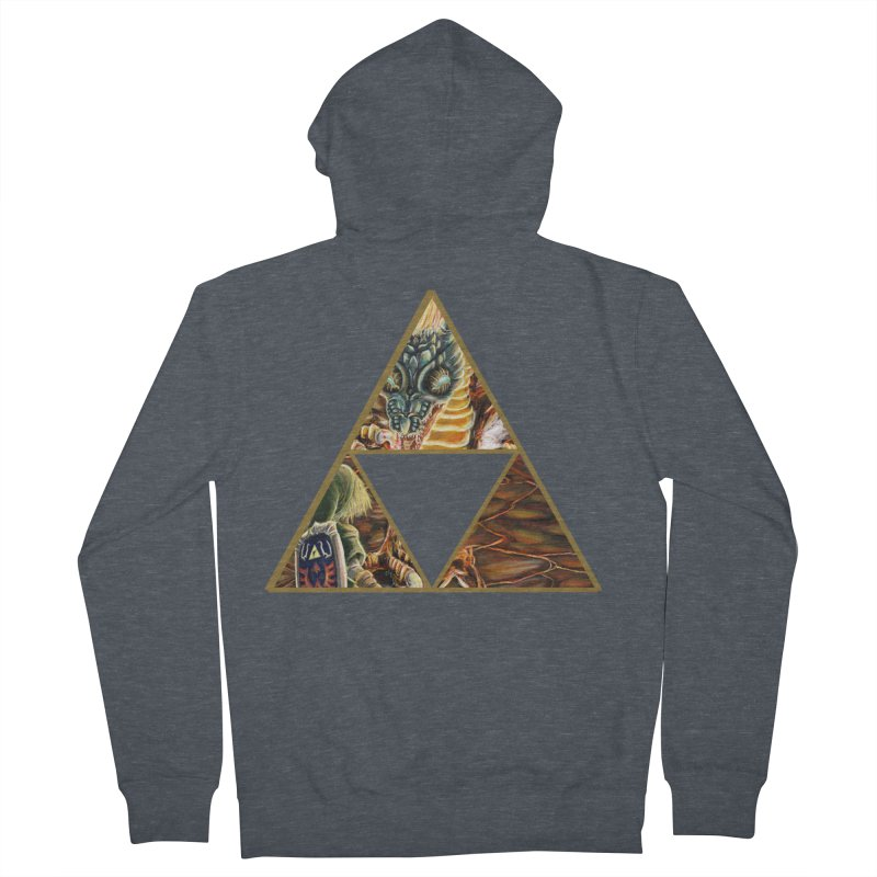 Volvagia vs Link Triforce Men's French Terry Zip-Up Hoody by mirrortail's Shop
