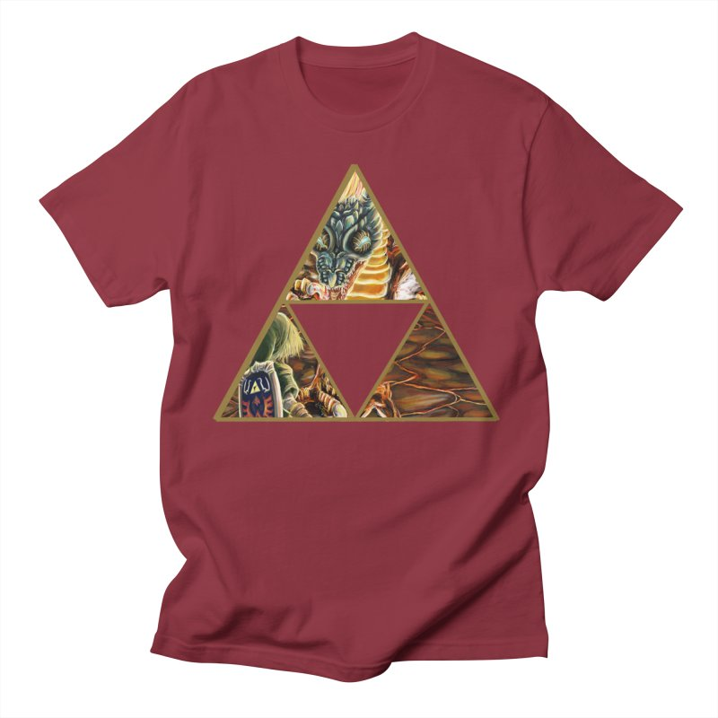 Volvagia vs Link Triforce Men's T-shirt by mirrortail's Shop