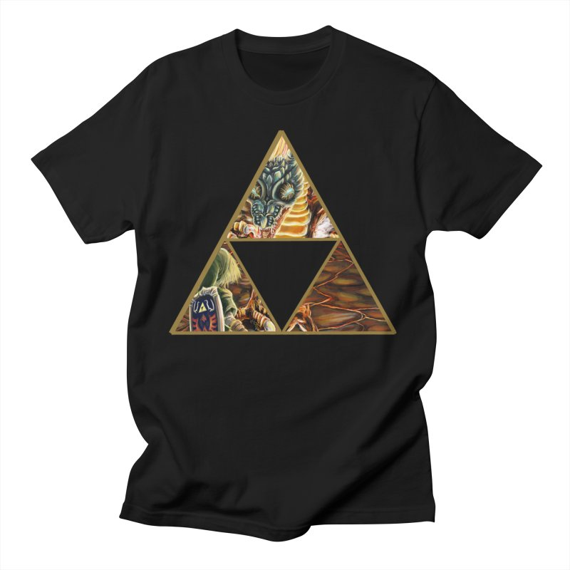 Volvagia vs Link Triforce Women's Regular Unisex T-Shirt by mirrortail's Shop