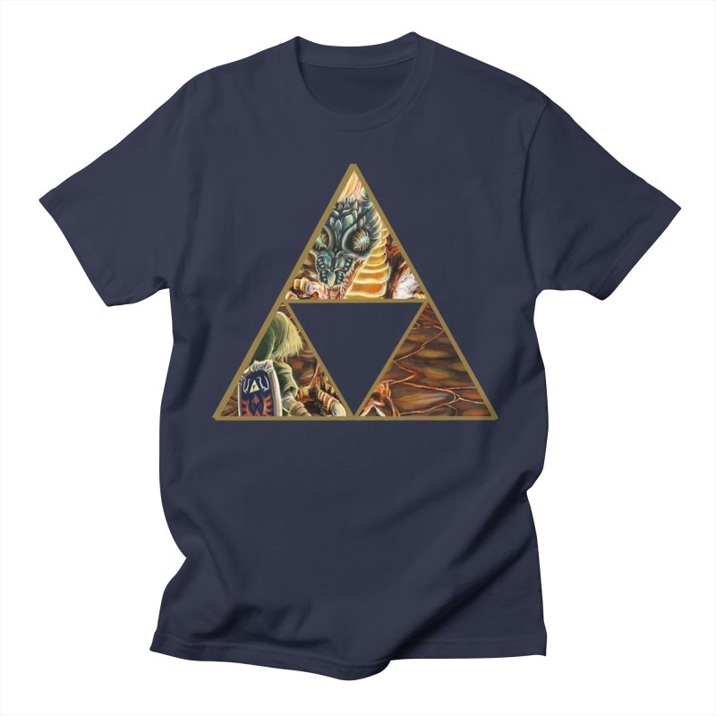 Volvagia vs Link Triforce Men's Regular T-Shirt by mirrortail's Shop