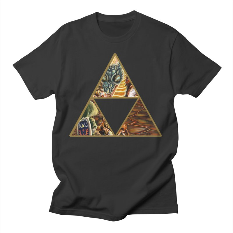 Volvagia vs Link Triforce Men's T-shirt by mirrortail's Shop