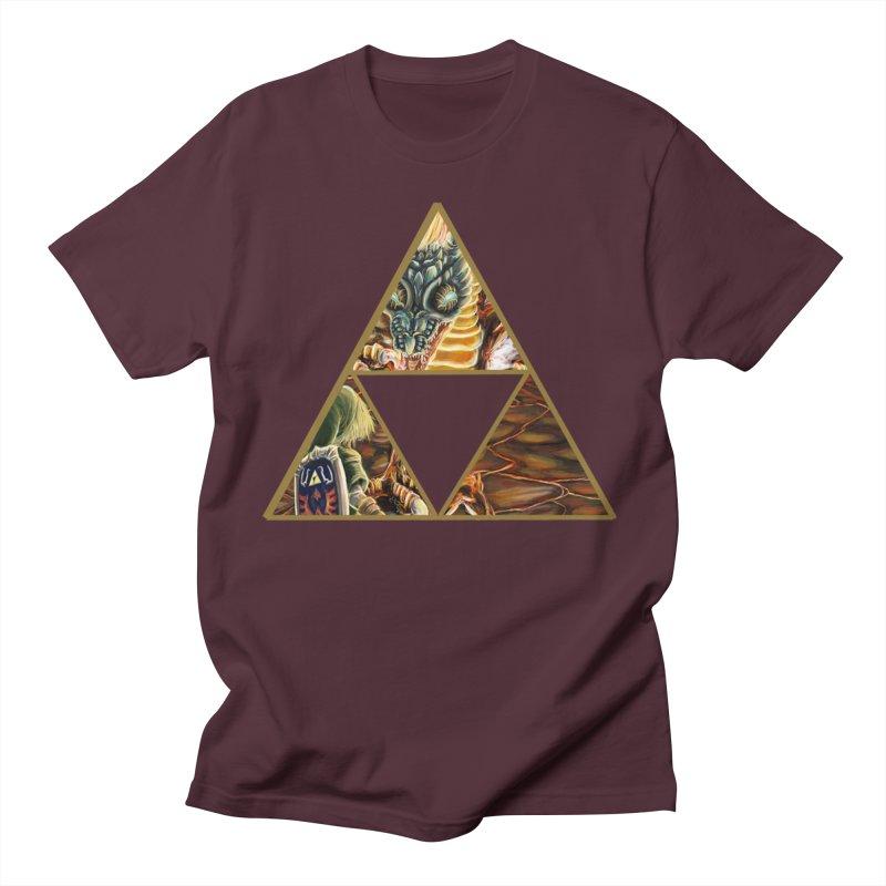 Volvagia vs Link Triforce Women's Regular Unisex T-Shirt by mirrortail's Shop