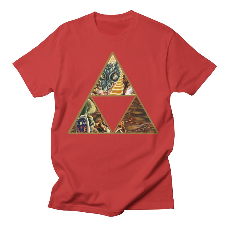 Volvagia vs Link Triforce Women's Unisex T-Shirt by mirrortail's Shop