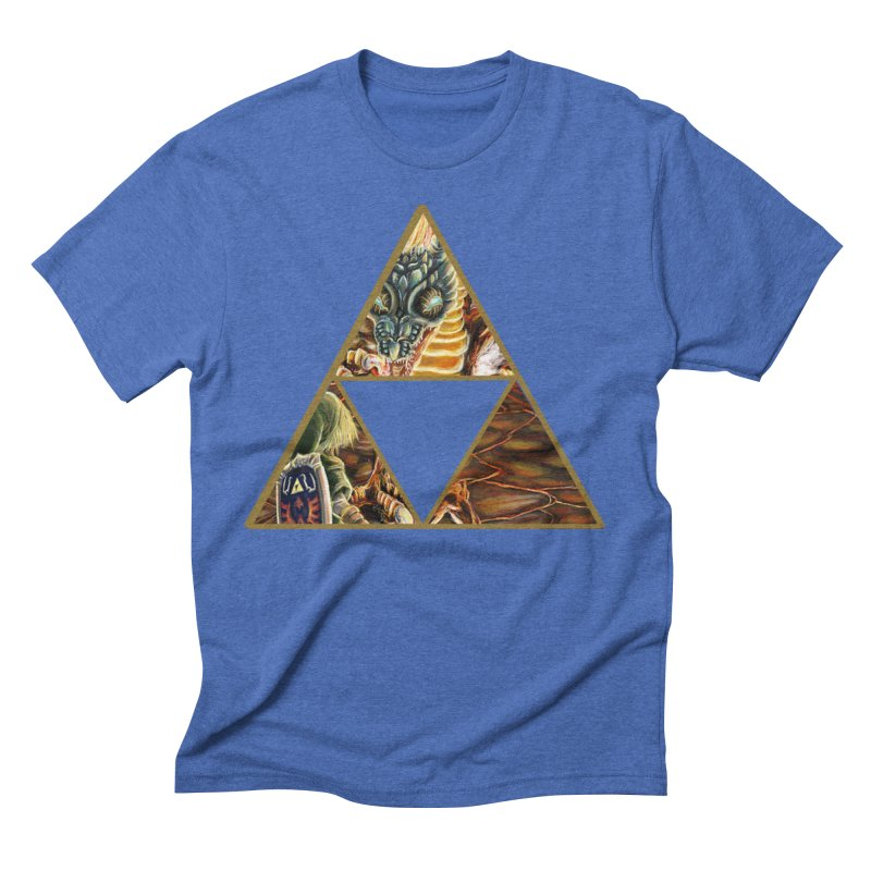 Volvagia vs Link Triforce Men's Triblend T-Shirt by mirrortail's Shop