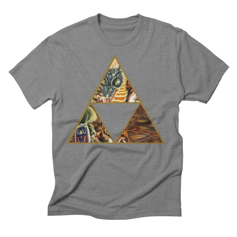 Volvagia vs Link Triforce Men's Triblend T-Shirt by mirrortail's Shop