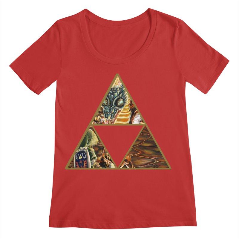 Volvagia vs Link Triforce Women's Regular Scoop Neck by mirrortail's Shop