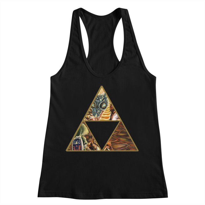 Volvagia vs Link Triforce Women's Racerback Tank by mirrortail's Shop