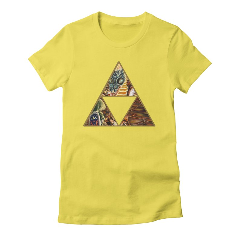 Volvagia vs Link Triforce Women's Fitted T-Shirt by mirrortail's Shop