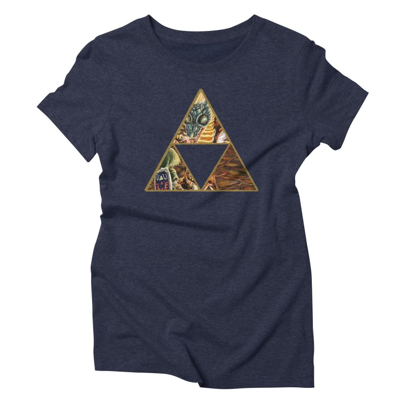 Volvagia vs Link Triforce Women's Triblend T-Shirt by mirrortail's Shop