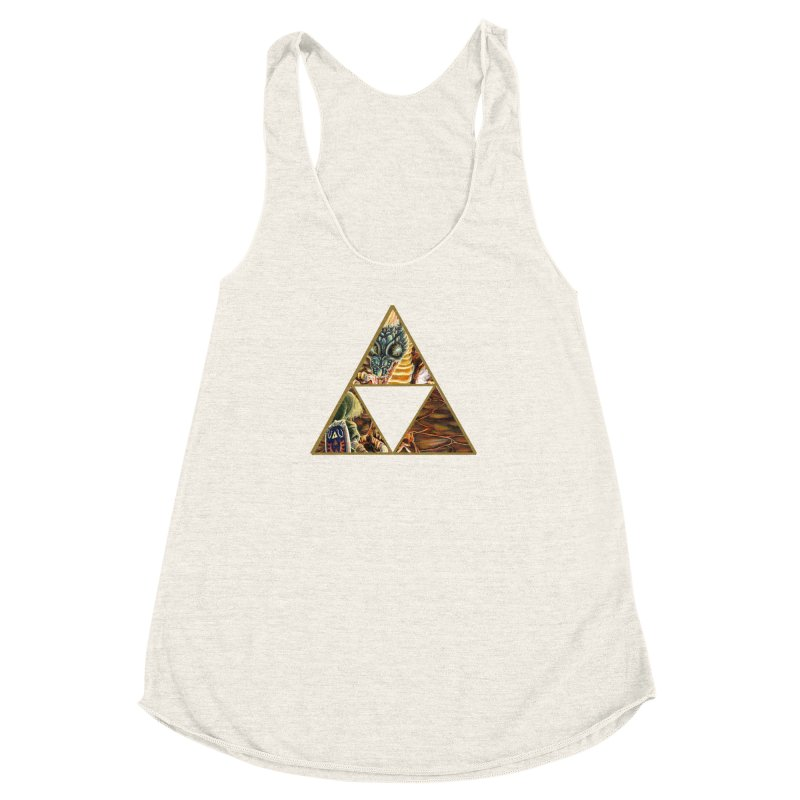 Volvagia vs Link Triforce Women's Racerback Triblend Tank by mirrortail's Shop