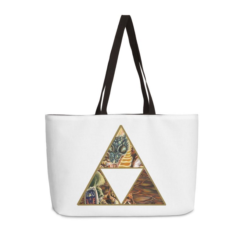 Volvagia vs Link Triforce Accessories Weekender Bag Bag by mirrortail's Shop