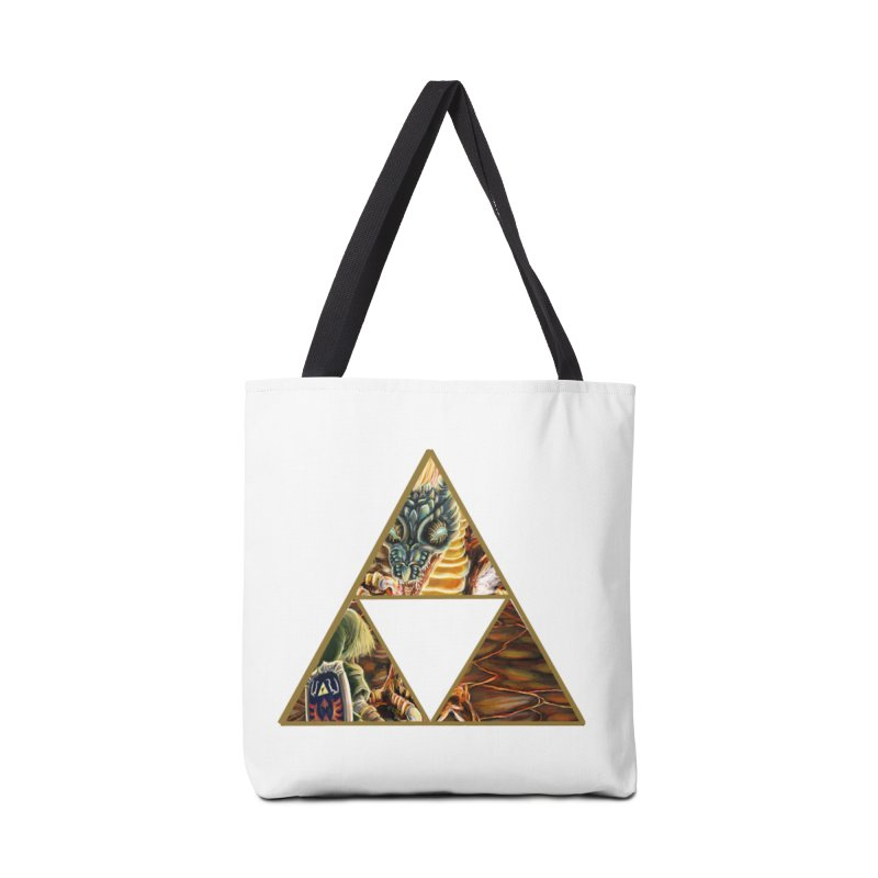 Volvagia vs Link Triforce Accessories Bag by mirrortail's Shop