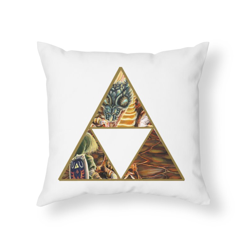 Volvagia vs Link Triforce Home Throw Pillow by mirrortail's Shop