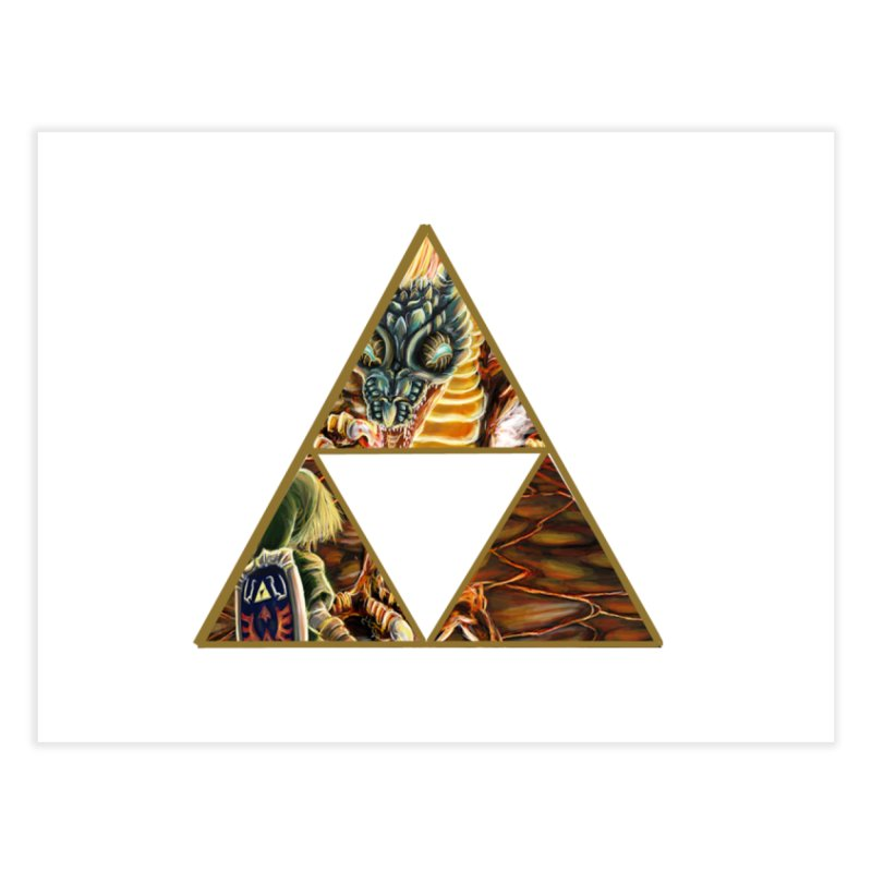 Volvagia vs Link Triforce Home Fine Art Print by mirrortail's Shop