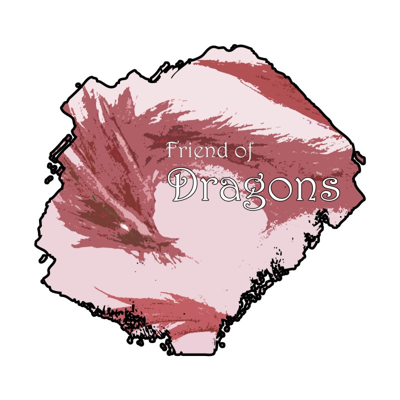 Friend of Dragons - Red Home Fine Art Print by mirrortail's Shop