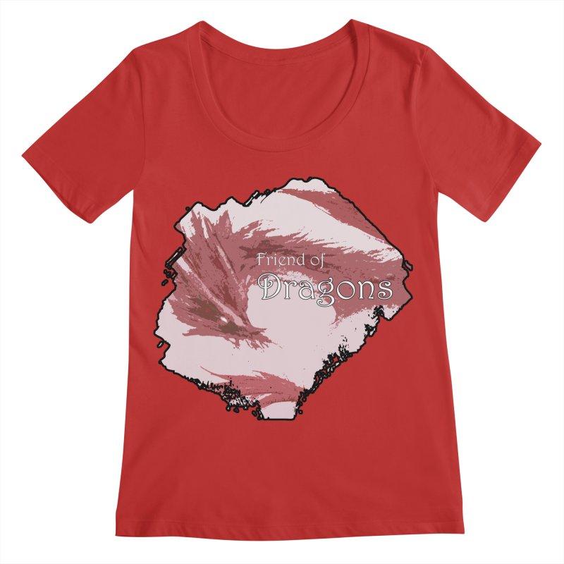 Friend of Dragons - Red Women's Regular Scoop Neck by mirrortail's Shop